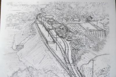 国鉄時代の土讃線安和駅の絵S.JPG